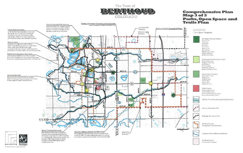 2014 Parks, Open Space, Trails Plan (PORT) Map, Berthoud Colorado